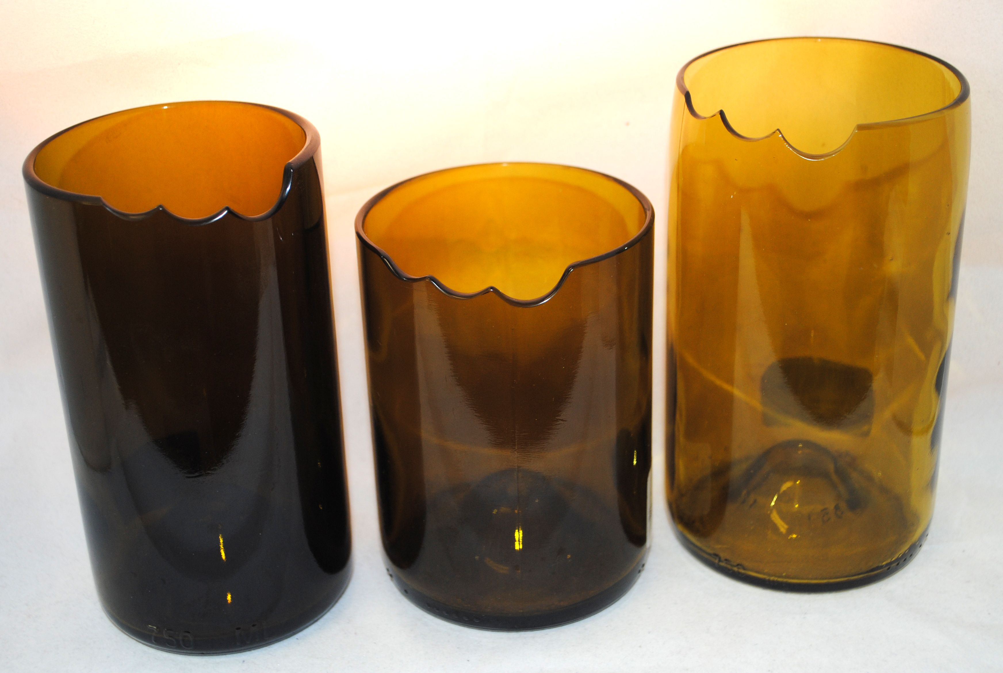 GLASS TUMBLER Made from upcycled wine bottles collected
