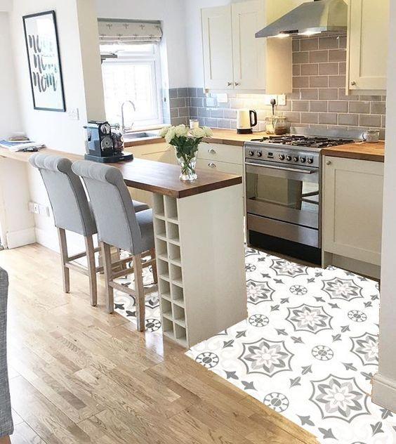 Kuchenboden Retro Kitchen Design Small Kitchen Interior Kitchen Design