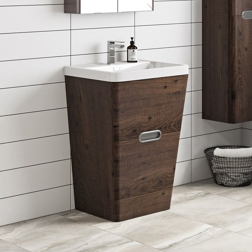 Mode Sherwood Chestnut Floor Standing Vanity Unit And Resin Basin 600mm Bathroom Accessiories In 2019 Vanity Units Wash Basin Cabinet Basin Vanity Unit