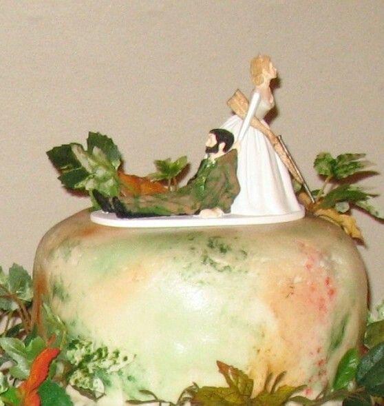 Camo wedding cake topper ha ha | country wedding | Pinterest | Camo ...