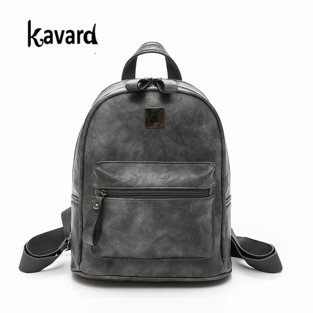 81022bb9aa2e Women Backpack Small Size Black PU Leather Women s Backpacks Fashion School  Girls Bags Female Back Pack Famous Brand mochilas