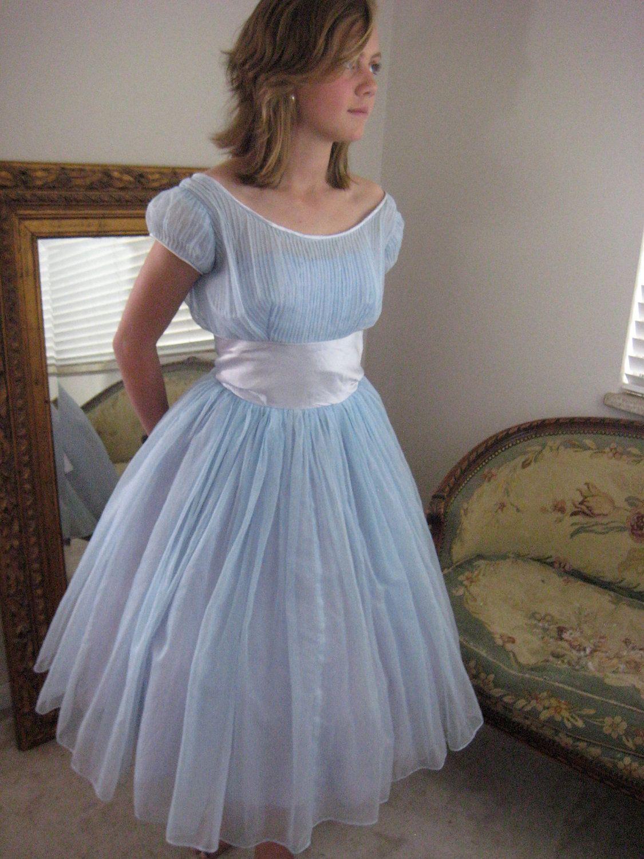 Prom Dress 1950s Emma Domb Vintage Prom Dress Baby Blue Etsy Gorgeous Prom Dresses Prom Dresses Vintage Prom Dresses [ 1500 x 1125 Pixel ]