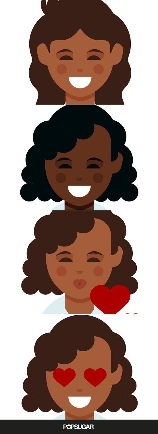Finally The Dark Skin Curly Hair Emoji You Ve Been Waiting For Are Here Curly Hair Styles Dark Skin Dark Skin Tone