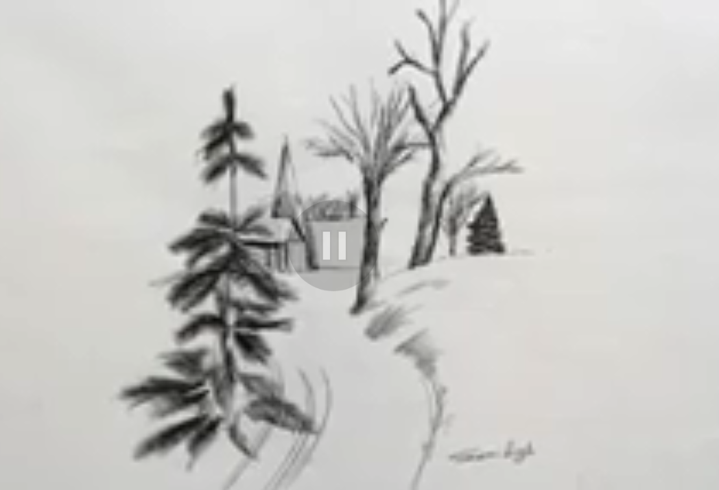 how to draw village scenery easy in 2020 | Drawing for beginners, Drawings, Pencil drawings