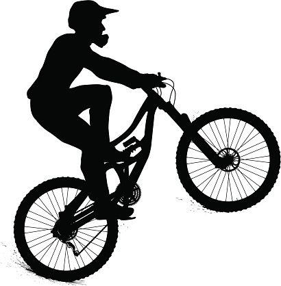 Mountain Biker Vector Art Illustration Mountain Bike Art Mountain Bike Tattoo Bike Illustration