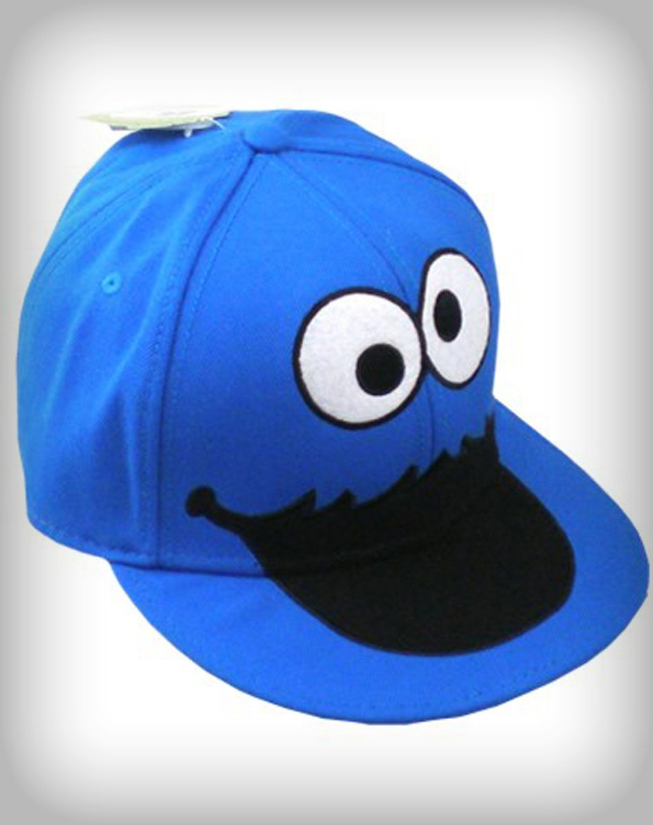 f875a8527080a Sesame Street Cookie Monster face snapback