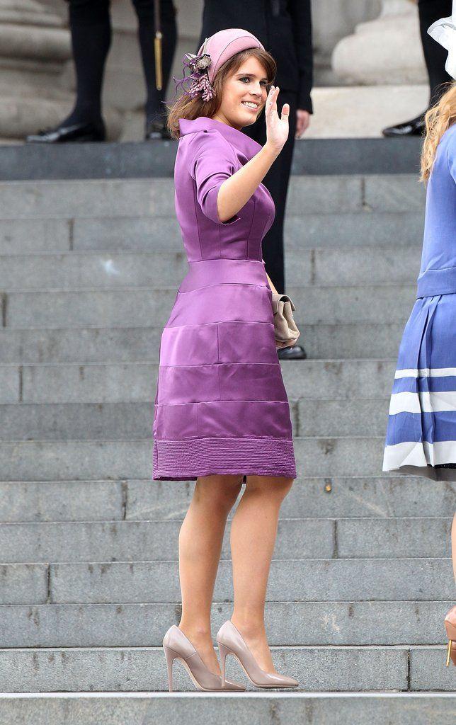 dd56d19817b06 A mauve Stephen Jones cloche for Princess Eugenie in 2012.