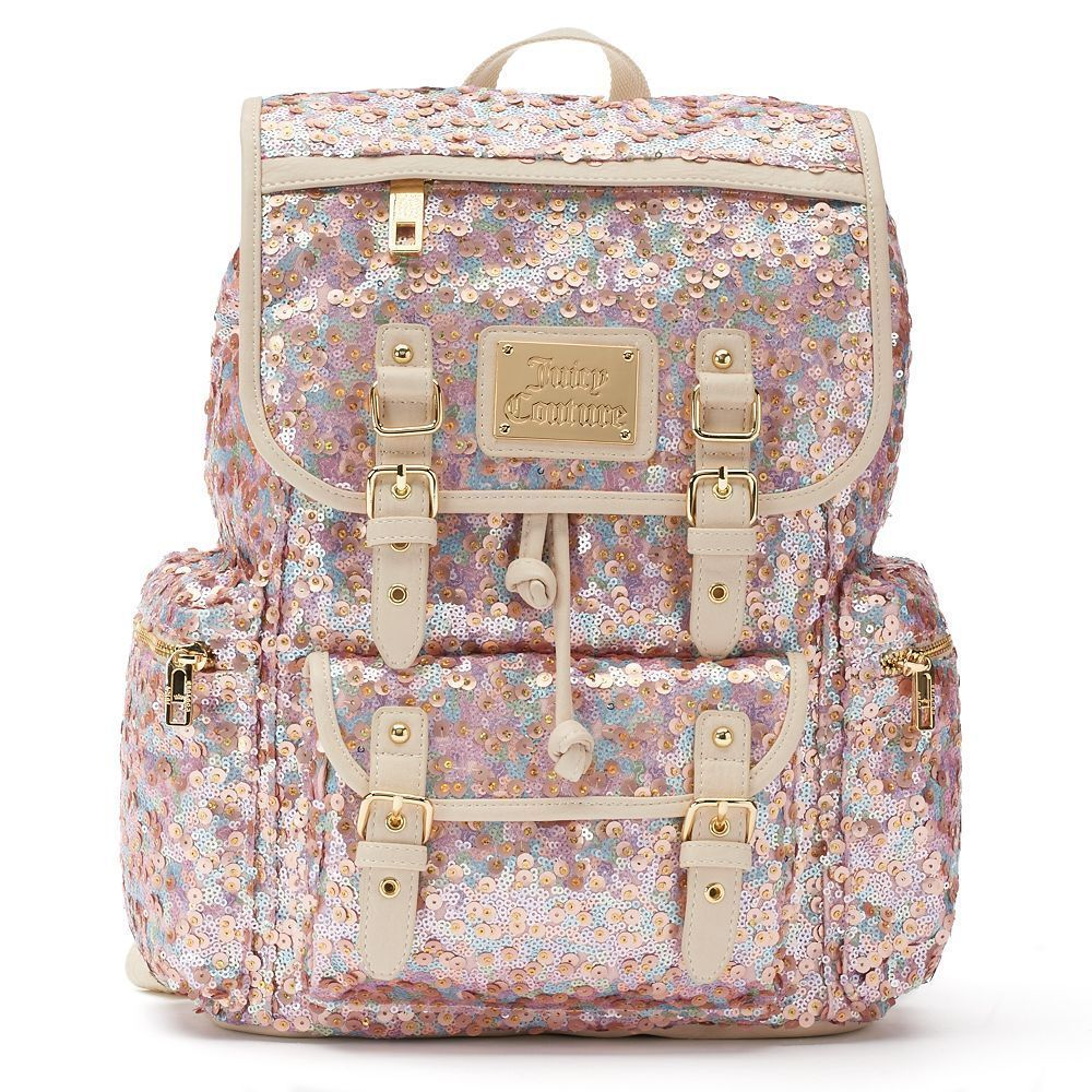 0e7939b88c1d NWOT Juicy Couture Pink Sequin   Velour Pailette Backpack  99  JuicyCouture   BackpackStyle