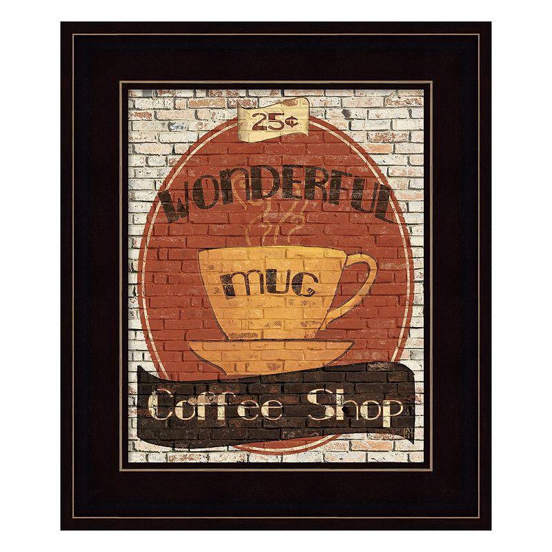 Metaverse art wonderful coffee shop framed wall art