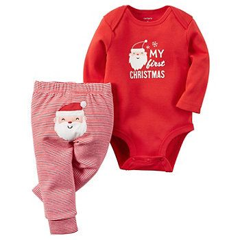Baby Christmas Shirt Christmas Bodysuit Christmas Tree Applique Baby Holiday Outfit Baby Boy Christmas Outfit Blue /& White Striped Pants