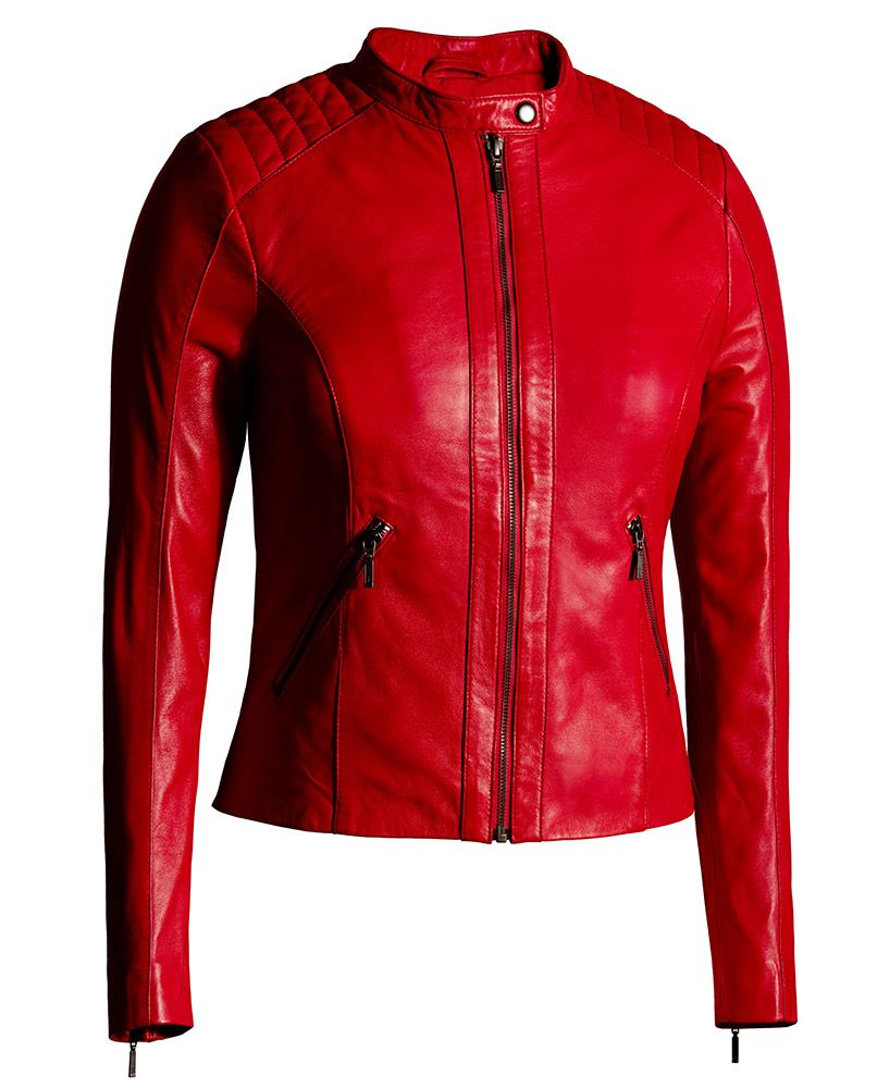 Women S Moto Jacket In Cognac From Soft Genuine Lambskin Leather Leather Jacket Style Leather Jackets Women Coloured Leather Jacket [ 1000 x 806 Pixel ]