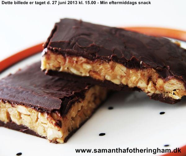 Sunde Snickers Hjemmelavet Sundt Slik Dessert Madopskrifter