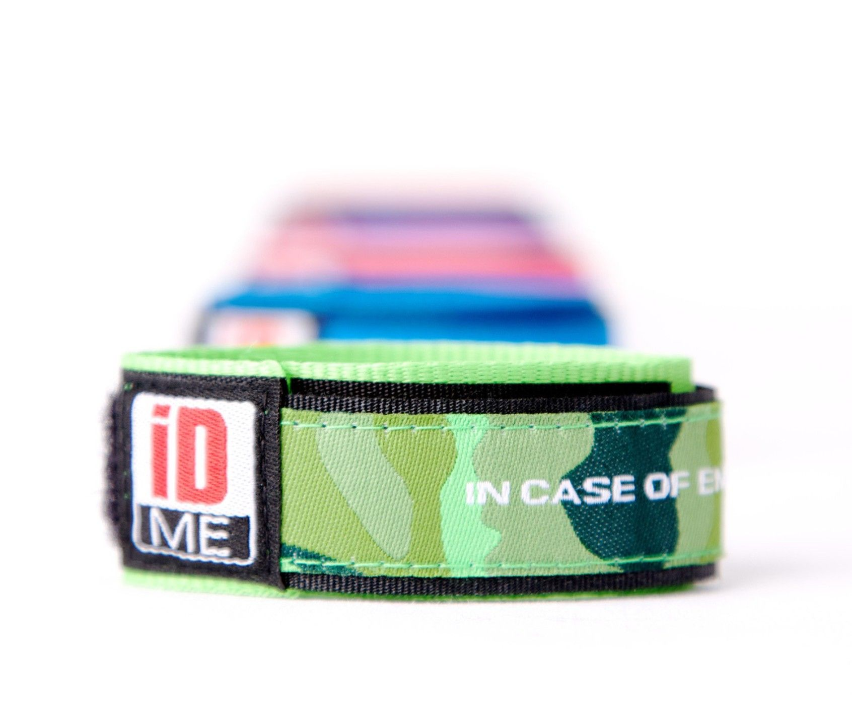 Camo Green Id Band Child Bands Sports Medical Allergy Ice