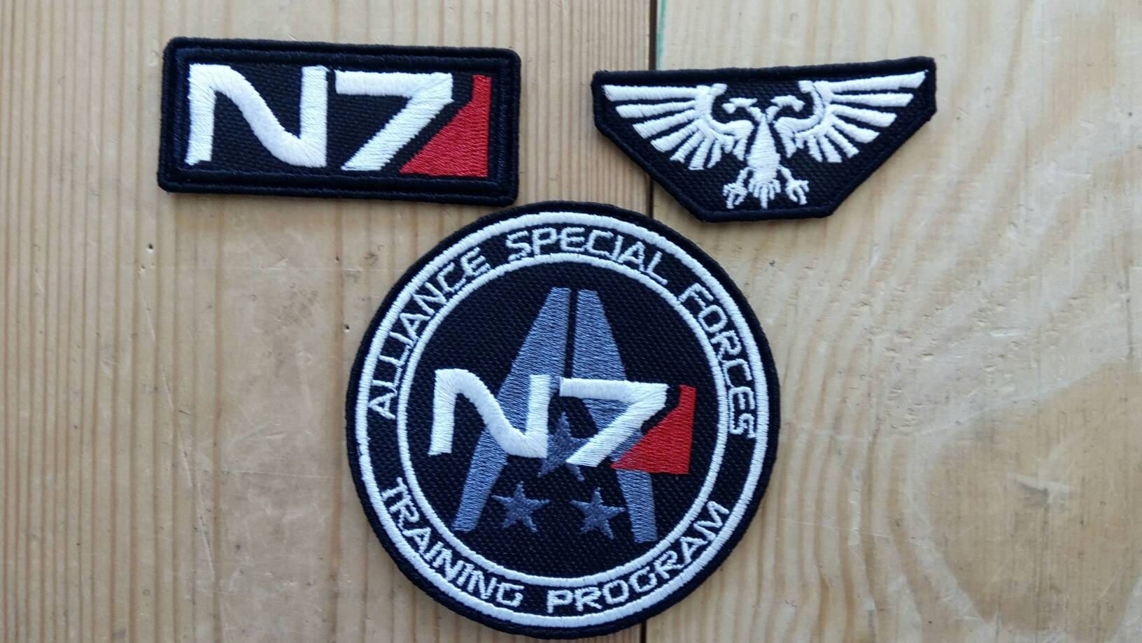 N7 Patch Mass Effect N7 Patch Fully Embroidered Patches Etsy Embroidered Patches Mass Effect Patches