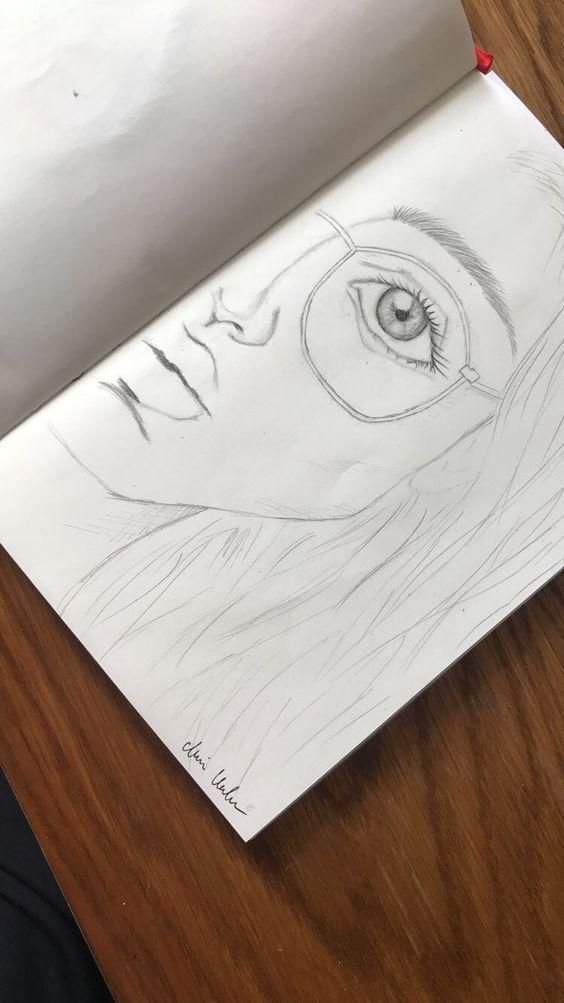 Awesome One Sided Girls Face Drawing Realistic H Awesome