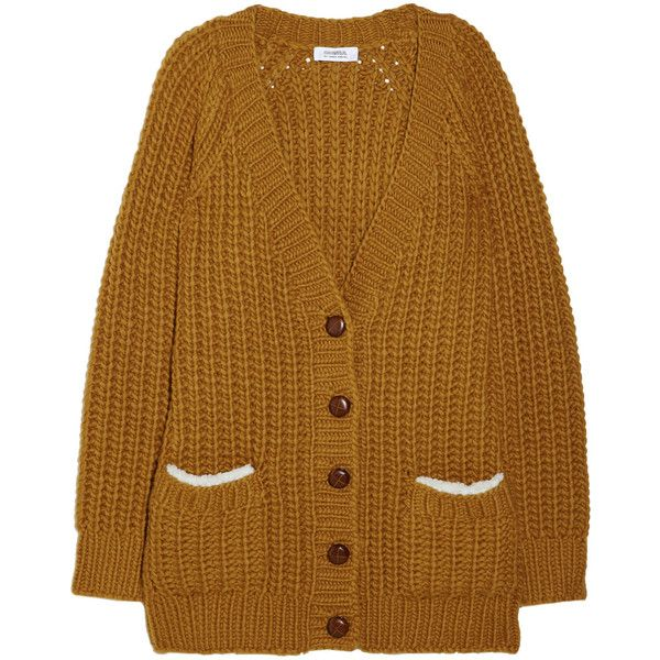 Sonia by Sonia Rykiel Chunky-knit wool-blend cardigan ($185 ...