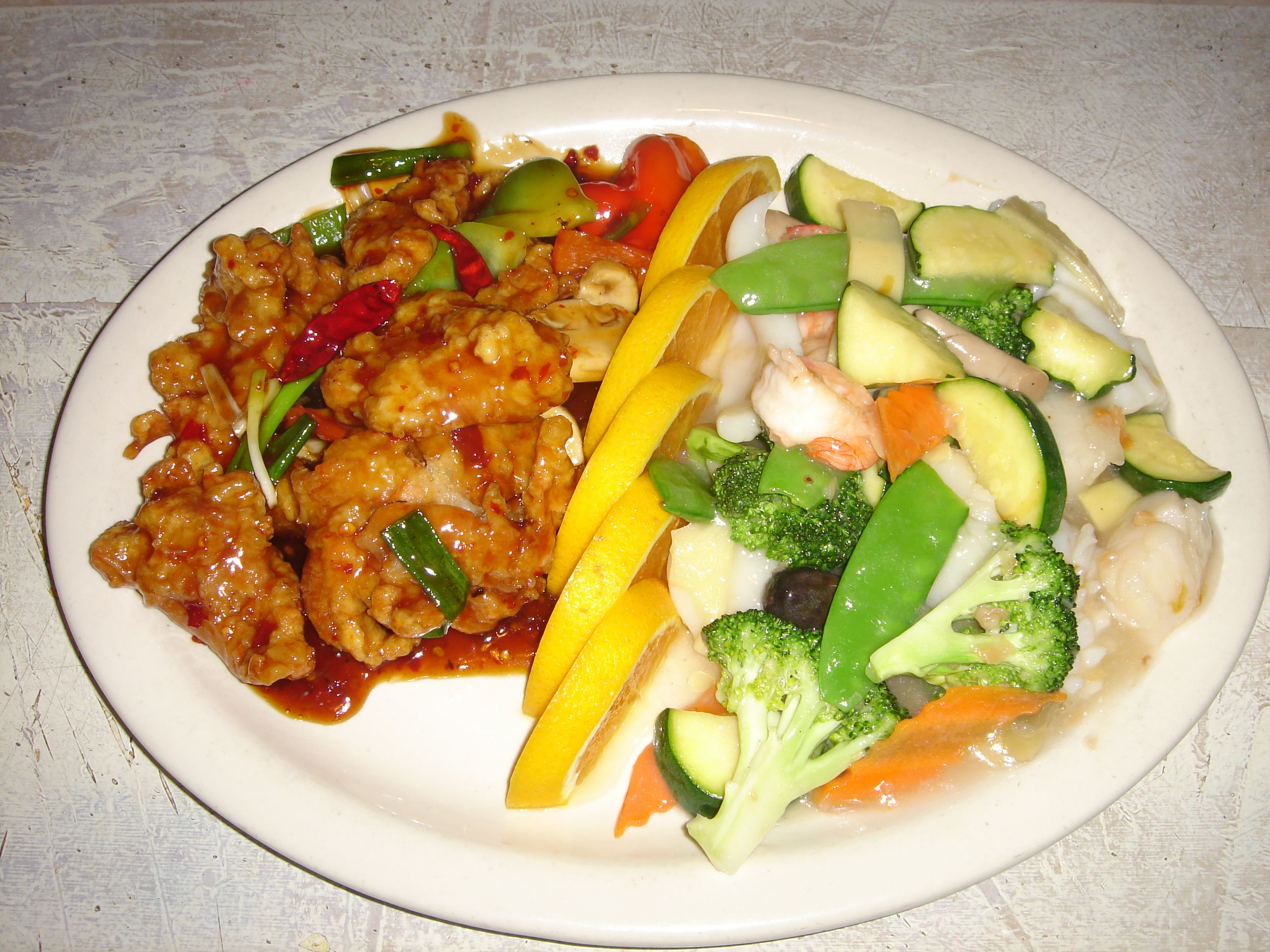 Dragon And Phoenix Chinese Food Sweet And Sour Pork Food
