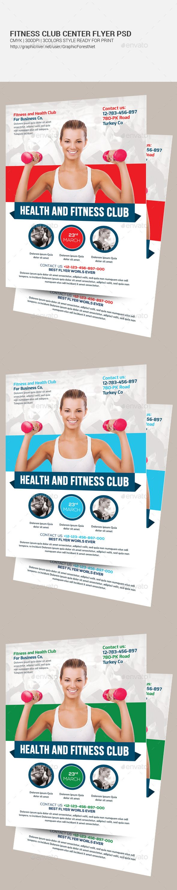 Fitness Health Flyers Template Pinterest Flyer Template