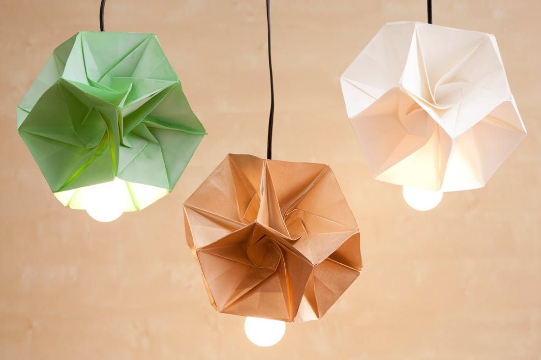 These Diy Origami Lamp Shades Are Our New Obsession Origami Lights