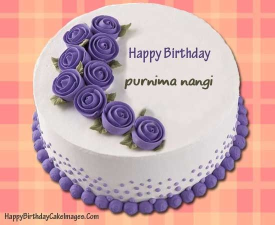 Birthday Cakes Images To Write Name ~ An easy way to write name on purple happy birthday cake with our