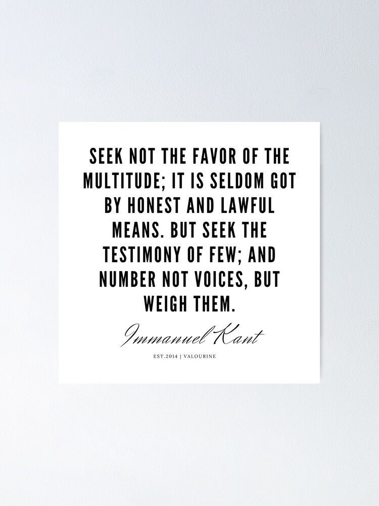 11   |  Immanuel Kant Quotes | 190810 Poster by QuotesGalore