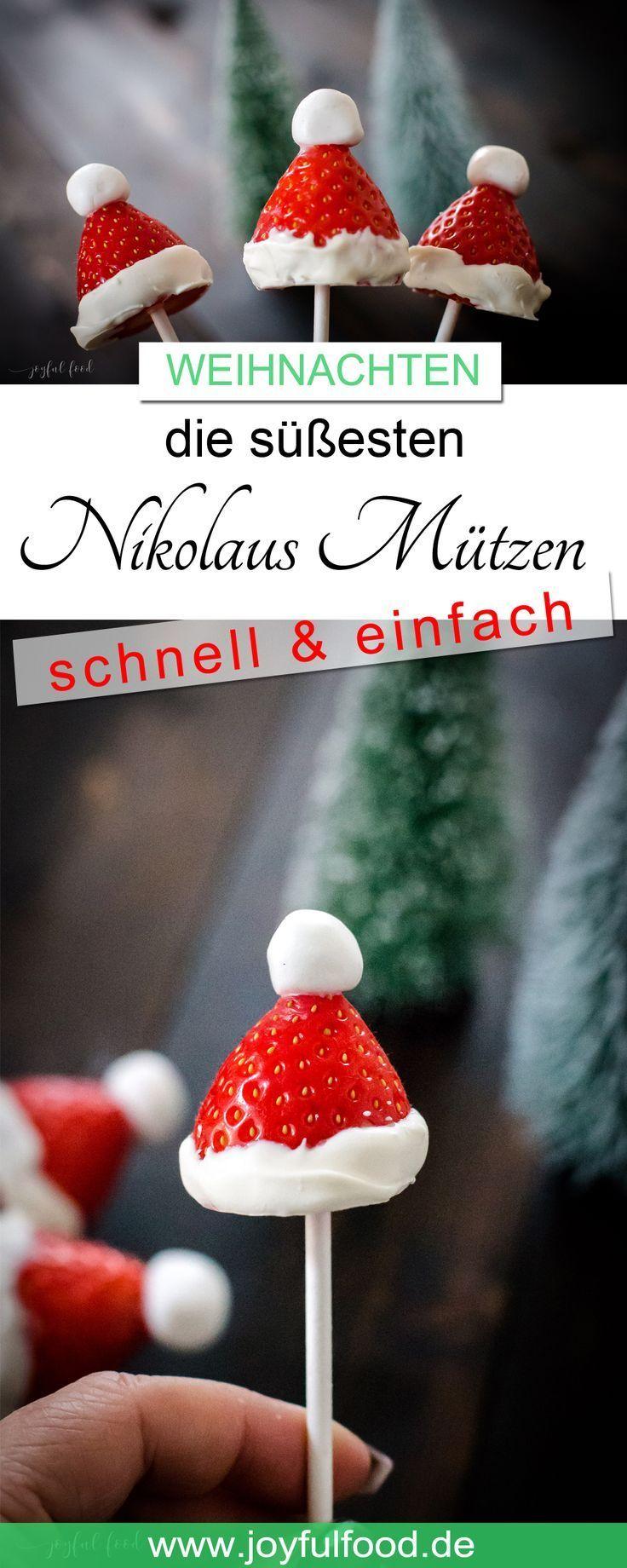 Süße Nikolaus Mützen - eine beerige Überraschung | Joyful Food #festmad
