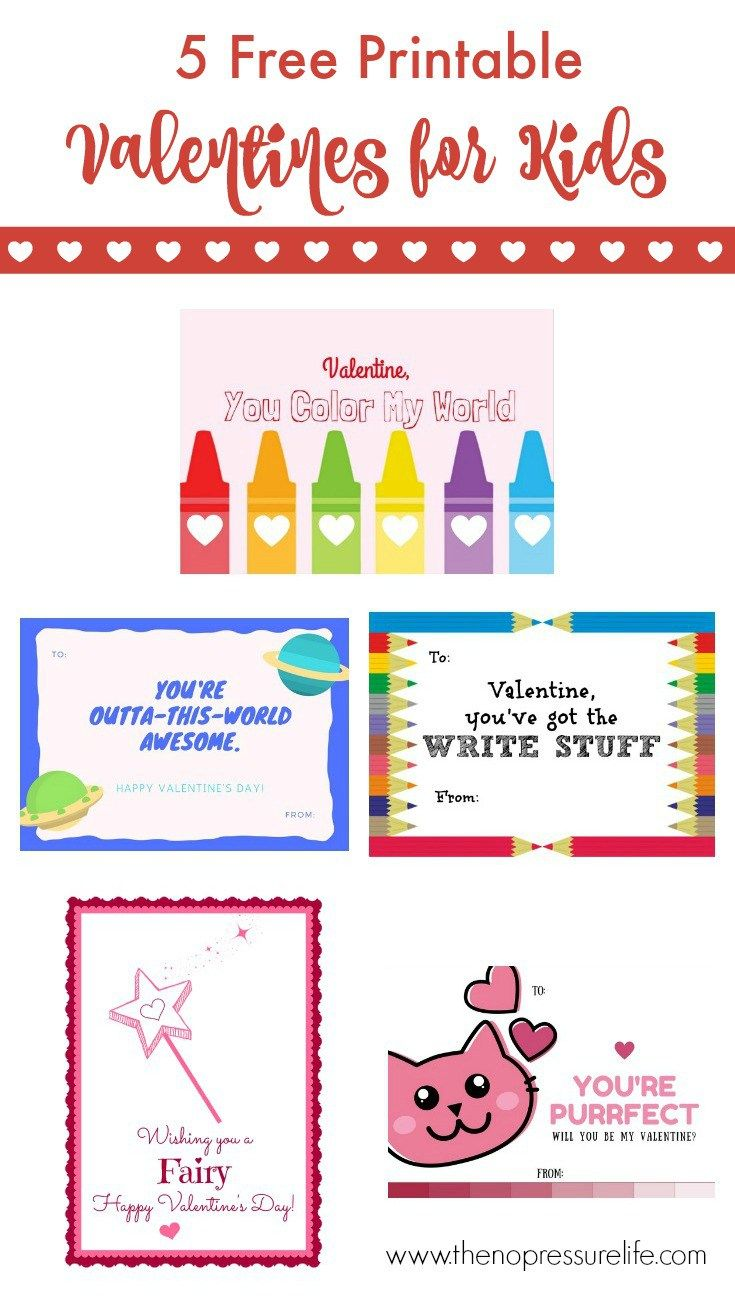 baa5d0aae1a These free printable Valentine s Day cards for kids are so cute! Just  download and print. Plus