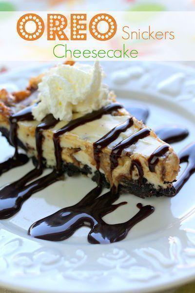 Snickers Oreo Cheesecake #snickerscheesecake