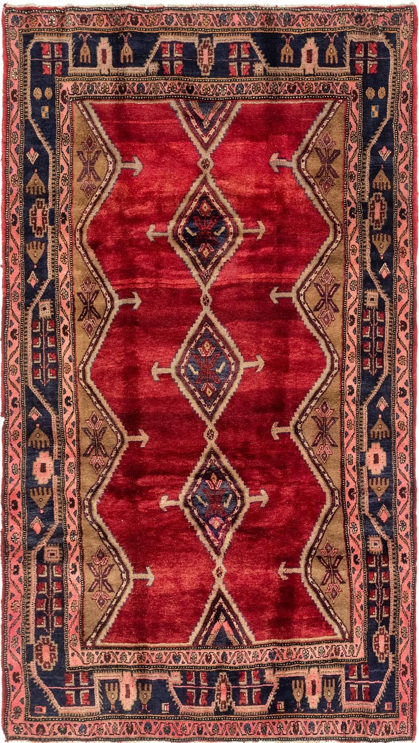 Red 5 2 X 9 Chenar Persian Rug Persian Rugs Handknotted Com