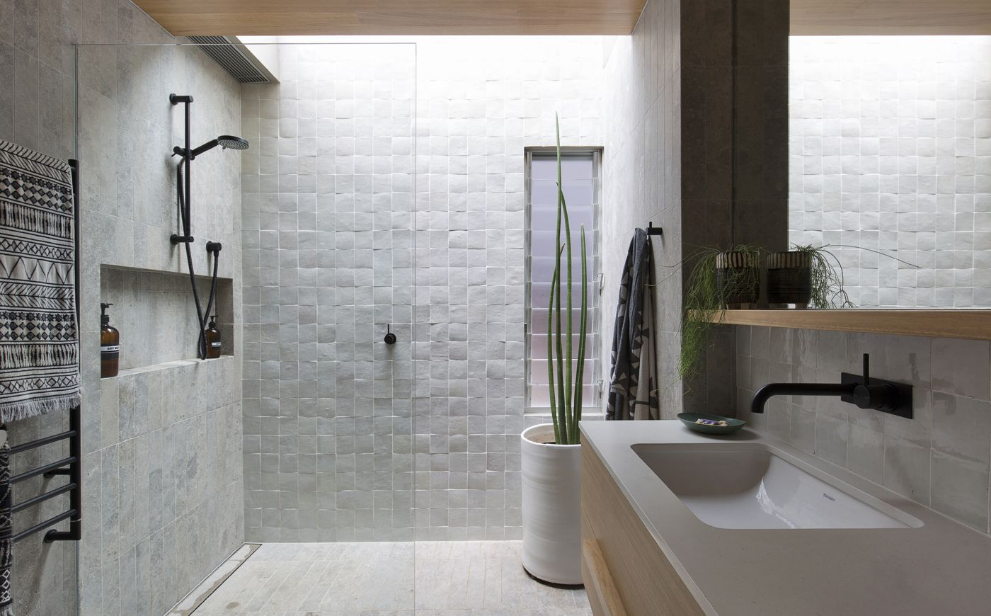 Our terrazzo bathroom.. floor to wall terrazzo... terrazzo