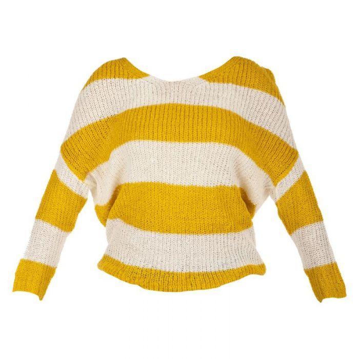 094adeaa71 Yellow   White Striped Sweater  39.99