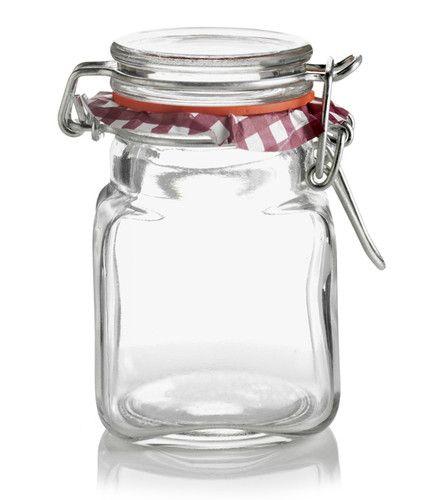 New 12 Mini Kilner Spice Herb Preserve Jam Jars Clip Top 70ml