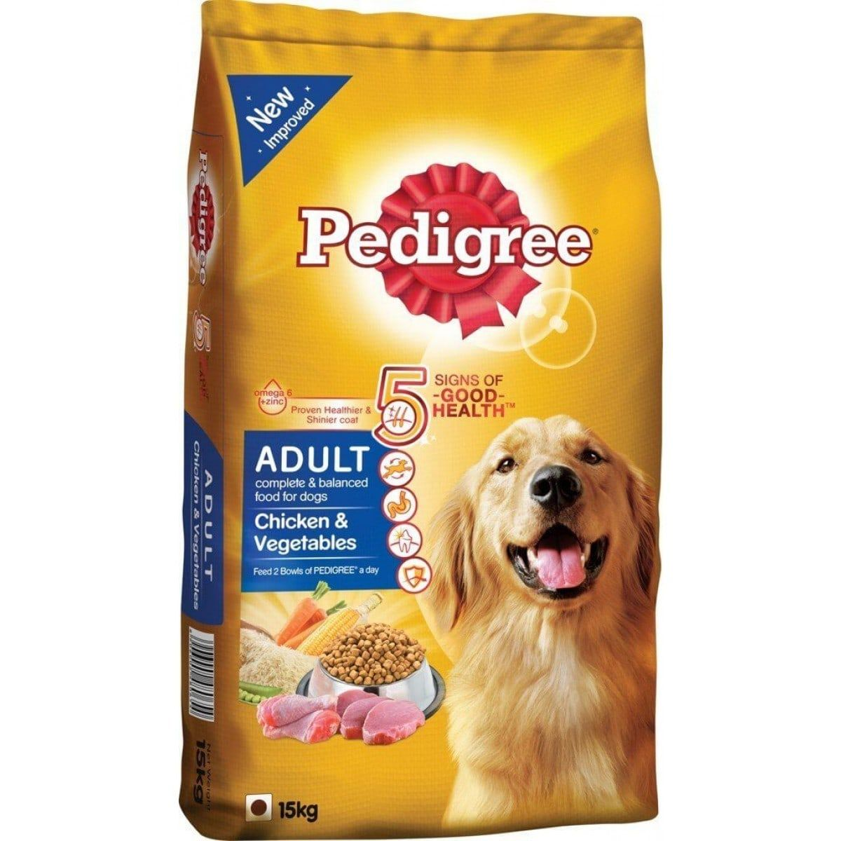 Pedigree Adult Chicken And Vegetable 15kg Is Best Dog Food For