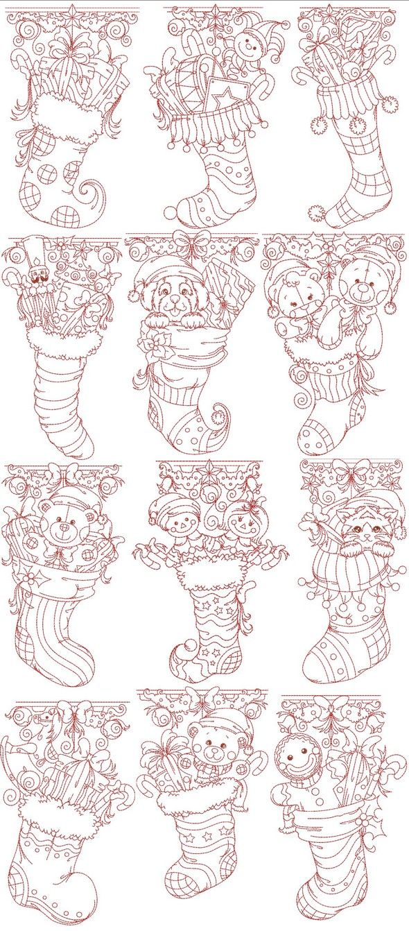 Machine embroidery applique embroidery designs redwork colorwork