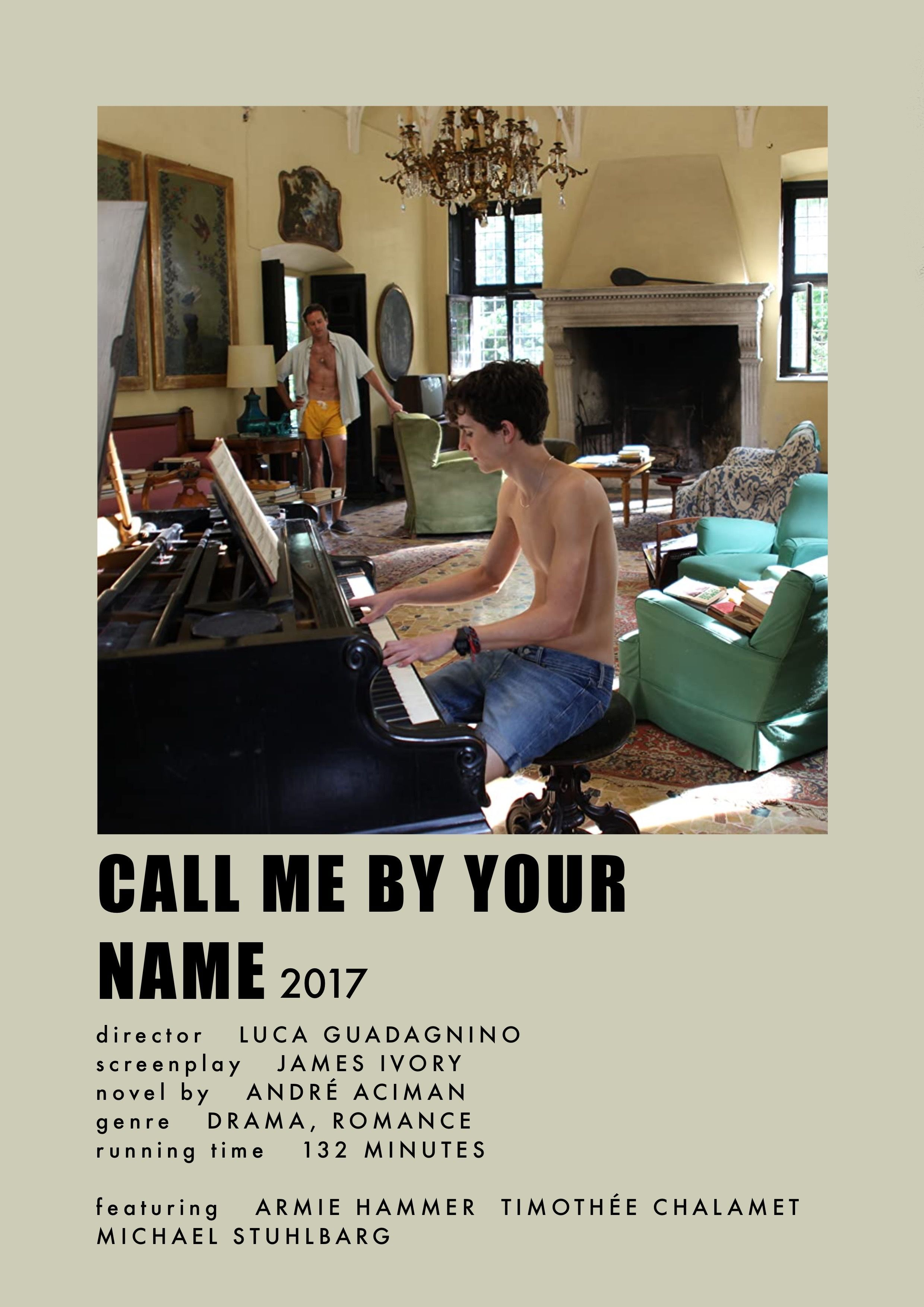 Call Me By Your Name Movie Prints Ver.1 Digital | Etsy