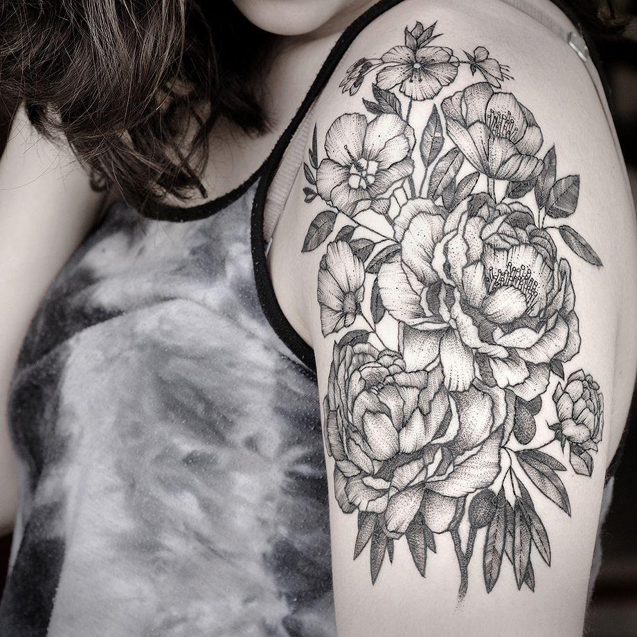 Tattoo peonies flowers black tattoo pinterest peony tattoo peonies flowers black dhlflorist Images
