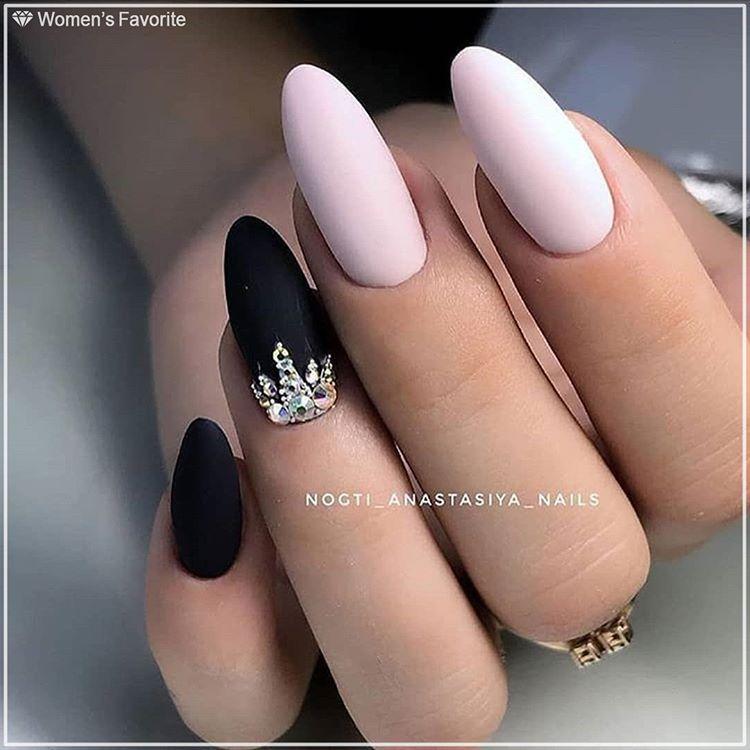 Картинки по запросу ногти черный розовый