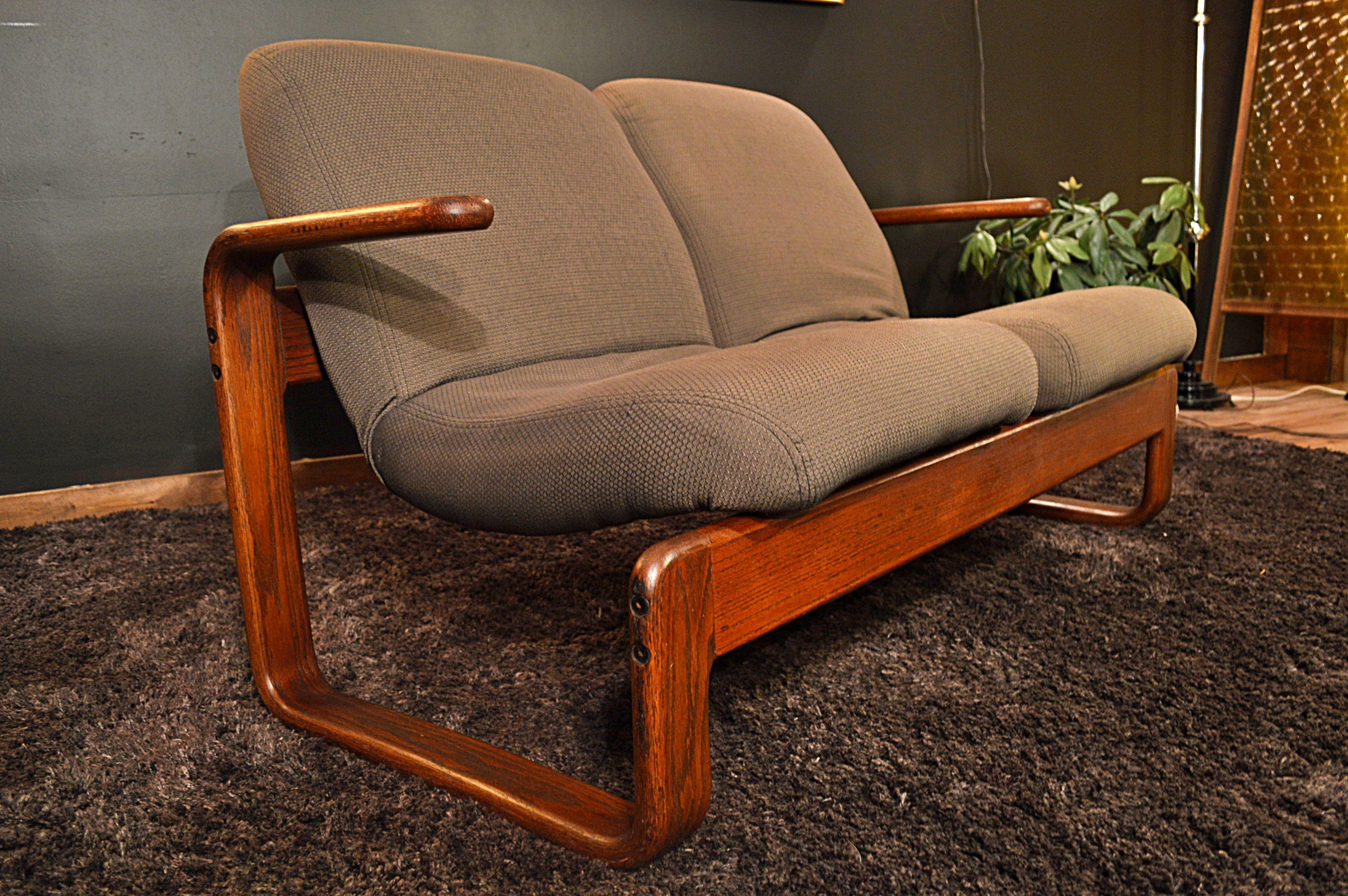 Mid Century Westnofa Style Scandanavian Bentwood Loveseat By Dirtygirlsantiques On Etsy Love Seat Mid Century Wood Pieces