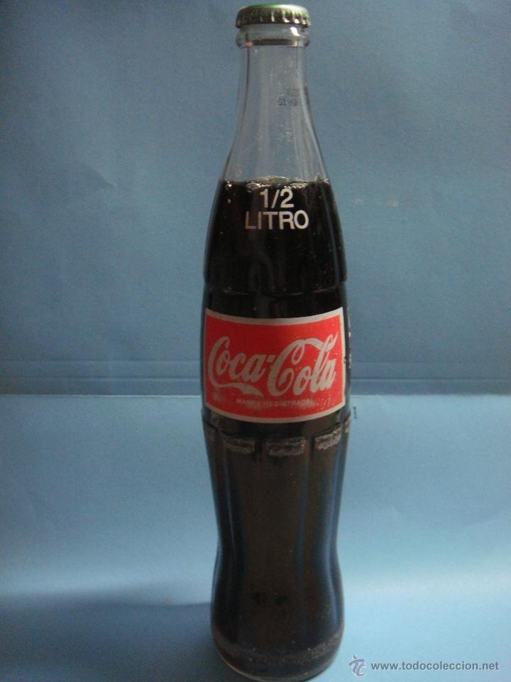 Extra a botella de cristal de cocacola de medio litro - Chapa coca cola pared ...