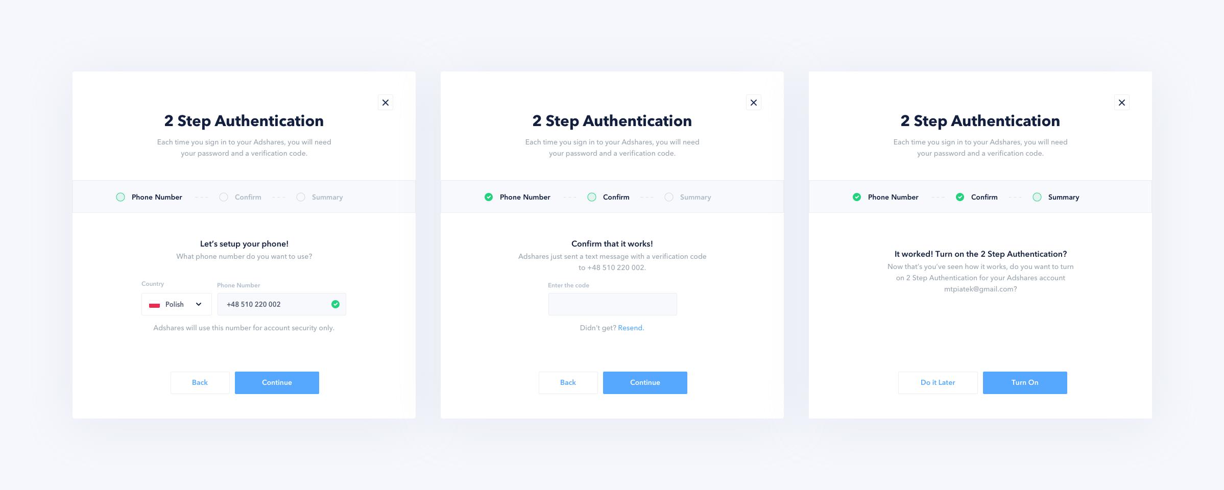 2 Step Authentication Steps Web Web Design 2 Step