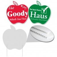Apple Shaped Corrugated Plastic Sign Corrugated Plastic Signs Are The Solution To Your Inexpensive S Corrugated Plastic Signs Corrugated Plastic Plastic Signs