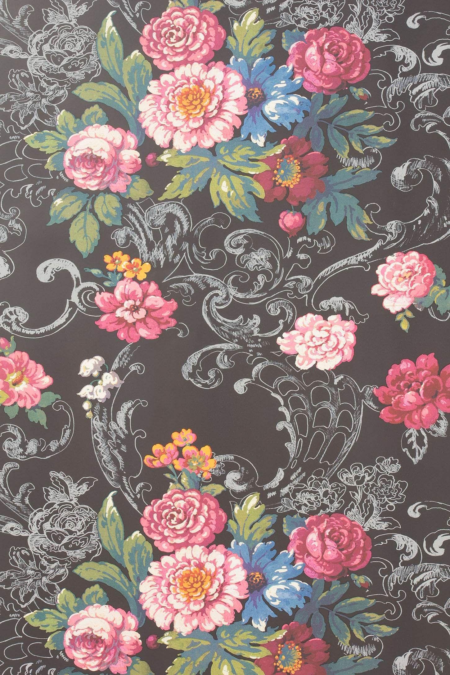 ve ian bouquet wallpaper vintage floral wallpapers