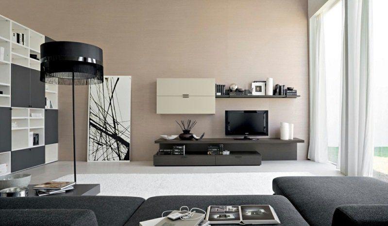 Fantastisch Wohnzimmer Wandfarben Beige Harmonische Farbgestaltung Beige Und Grau