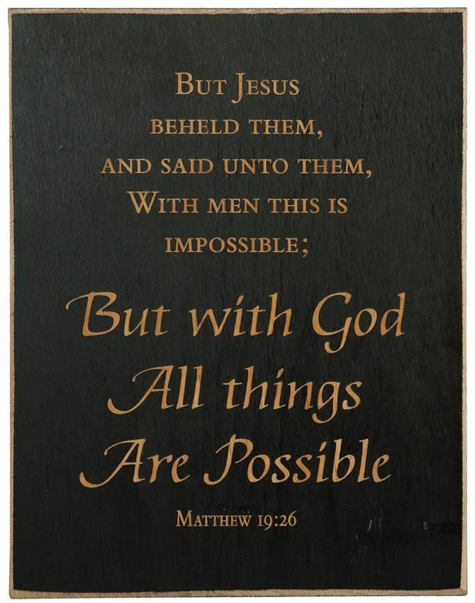 With God All Things Are Possible - Inspirational Plaque- Made in USA | Inspirational quotes wall art, Inspirational plaque, Quote plaques