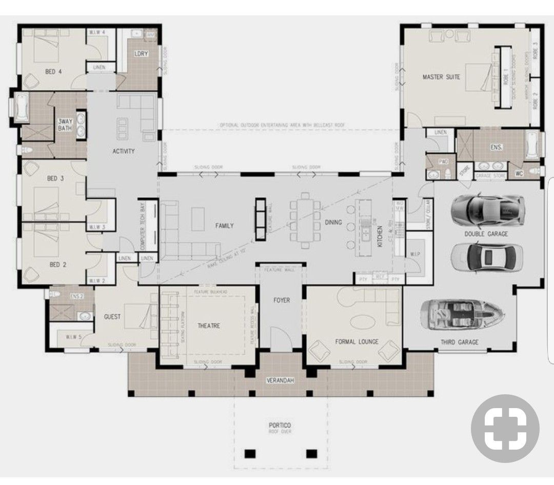 Pin By Martha Castro On New Project Home Courtyard House Plans Ranch House Plans House Plans