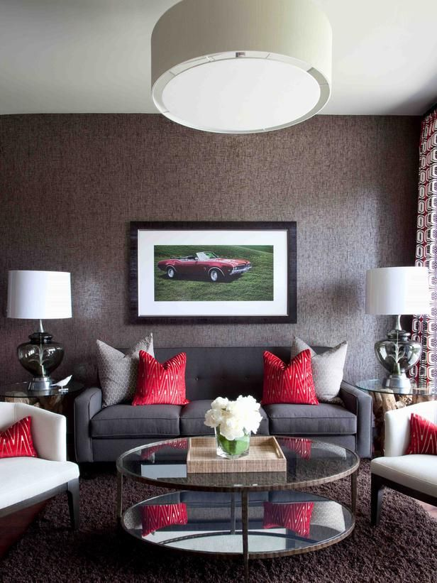 Incredible Big Picture Of The Red Accent Pillows With Gray Sofa Grey Theyellowbook Wood Chair Design Ideas Theyellowbookinfo