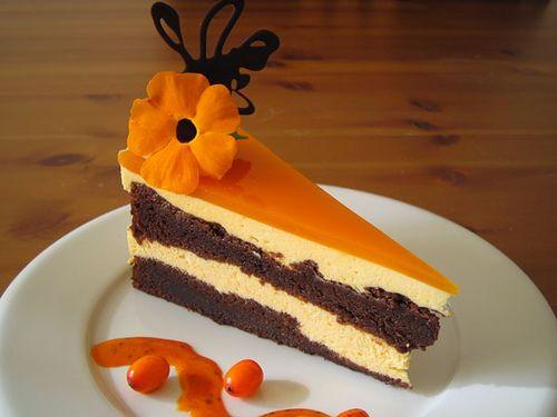 Chocolade laagjes cake