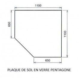 Plaque De Sol Verre Pentagone Dimensions Angle Droit 1100 1100 Cm 650 Cm 0 6 Mm D Epaisseur Ces Plaques De Sol Presentent Deux Avant Verre Sol Plaque
