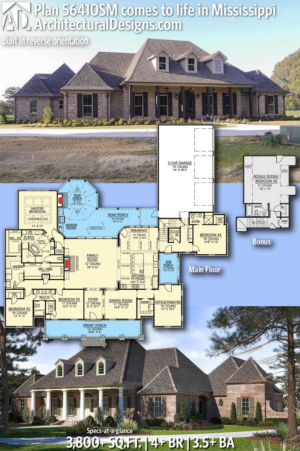 Architectural Designs House Plan 56410SM client built in