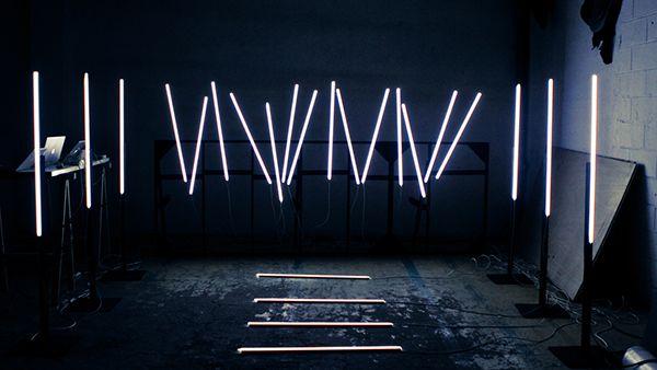 Audioreactive Light Installation For